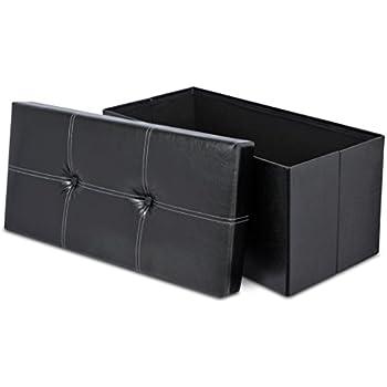 Amazon Com Internet S Best Faux Leather Folding Storage