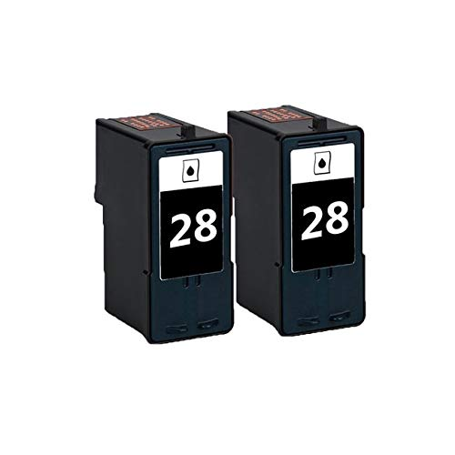 N&L Global CO. 2 Pack 18C1428 (#28) Black Compatible Ink Cartridge for Lexmark X2500/X5075 (Pack of 2)