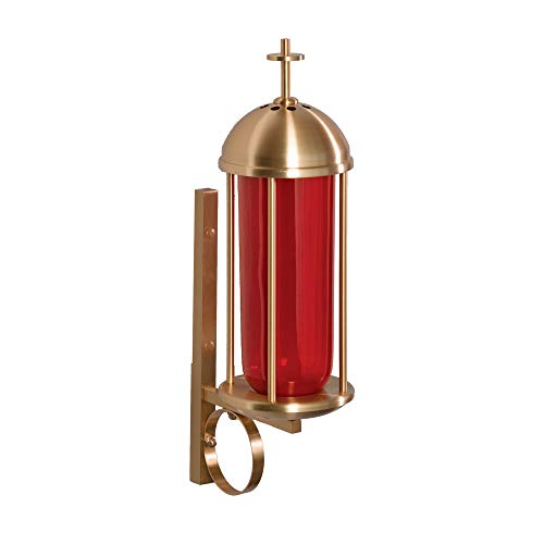 F.C. Ziegler Satin Bronze Finish Sanctuary Lamp