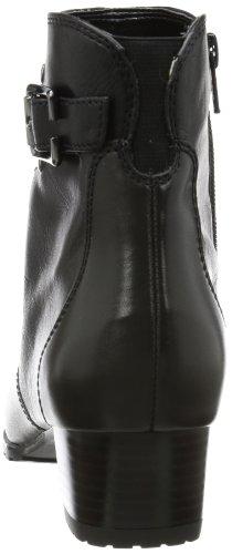 Schwarz Genf Jenny cuero Botas Negro Schwarz clásicas de 71 St mujer AC1wqz