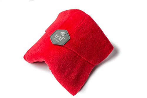 Trtl Pillow - Scientifically Proven Super Soft Neck Support Travel Pillow - Machine Washable (Red)