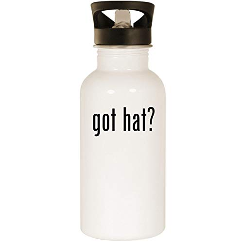 (got hat? - Stainless Steel 20oz Road Ready Water Bottle, White)