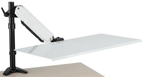 Displays2go, Laptop Holder for Desktop, Steel, Aluminum Construction – Silver, Black, White (VMSSWDMLAP) by Displays2go