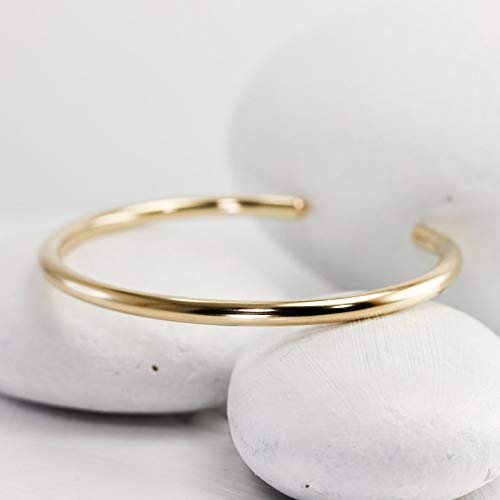 (Smooth Round Gold Filled Cuff )
