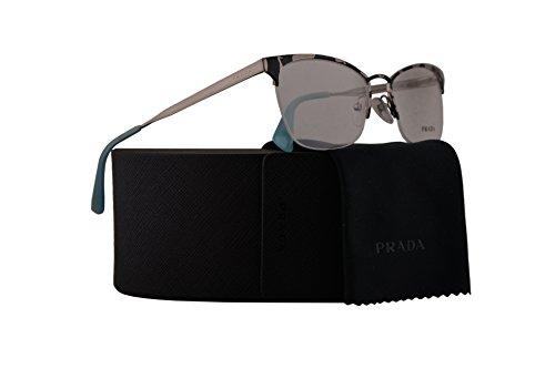 Prada PR65QV Eyeglasses 53-17-140 White Havana w/Demo Clear Lens KAD1O1 VPR65Q VPR 65Q PR - Prada Pads Sunglasses Nose