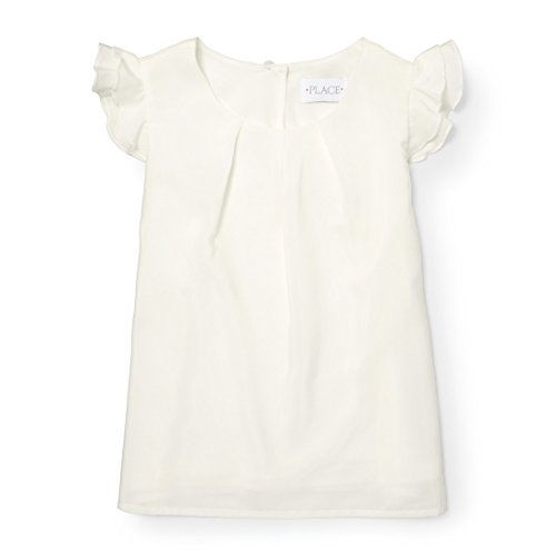 The Children's Place Little Girls' Sleeveless Dressy Dresses, Simplywht 88039, S (Little Girls Blouse)