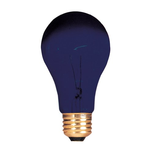 Bulbrite 861025 75 W Dimmable A19 Shape Incandescent Bulb (E26) Base with Medium Screw, 12 Pack, Black Light