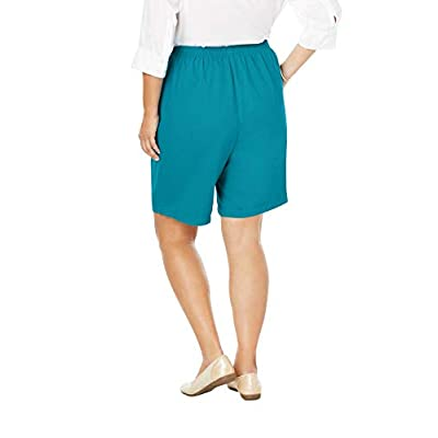 Woman Within Women's Plus Size Elastic-Waist Cotton Short at Women's Clothing store