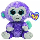 Ty Beanie Boos Blueberry Monkey 6 ""