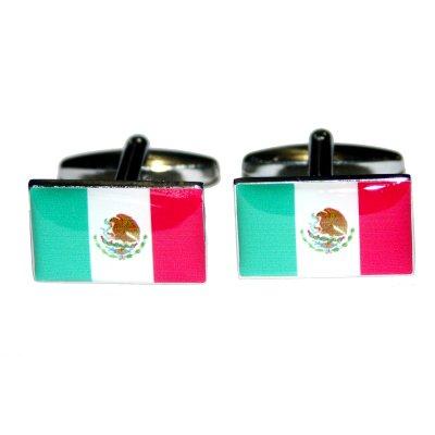 Mancuernas de la bandera de México. (BOCF2)