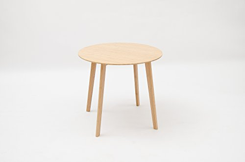 Pallamila Eco-friendly Mordern Round Table, Four Legged Bamboo End Table, for Coffee Tea Plants computers Books 24.4 Inch Table Top