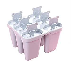 Plastic Ice Cream Popsicle Molds Cooking Tools Rectangle Shaped Reusable DIY Frozen Ice Cream Pop Baking Mould