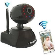 Cheap ZEBORA Baby/Pet Monitor,Through Free Mobil App SuperHD 960P WiFi Wireless Network IP Security Surveillance Video Camera, Pet and Nanny Monitor with Pan and Tilt, Two Way Audio & Night Vision (Black)