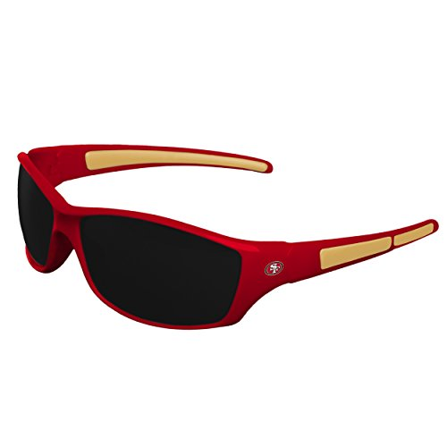 FOCO NFL San Francisco 49ers Sports Fan Sunglasses, Team Color, One Size