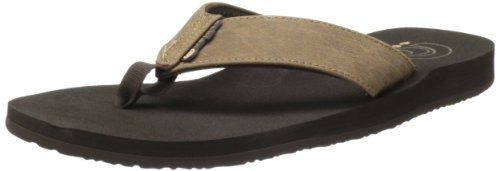 (Cobian Men's Floater Flip-Flop, Mocha, 11 M US)