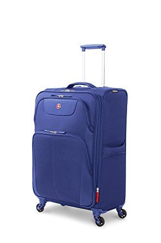 "SwissGear Meyrin 24.5"" Expandable Spinner Suitcase, Dark Blu"
