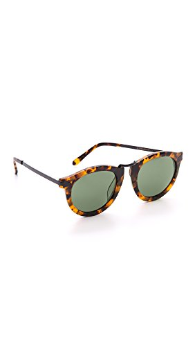 Karen Walker Women's Special Fit Harvest Sunglasses, Crazy Tort/Smoke Mono, One Size