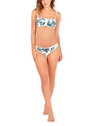 Conjunto De Bikini Bandeau De South Beach | Bikini Tropical De Impresión De Hoja De Palma Con Calzoncillos A Juego|Sea Derecho 'On-Trend�?Este Verano En Esta Hoja Verde Y Posters (38)