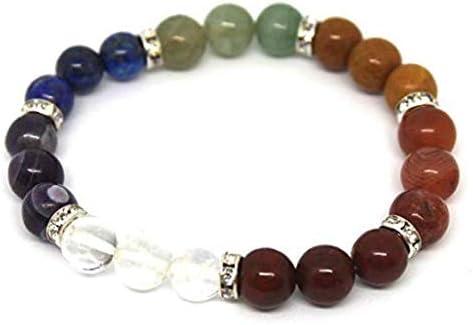Bracelet de soins reiki 7 chakras en pierres naturelles 8 mm