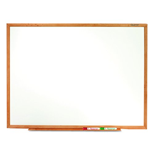 Quartet Standard Melamine Dry-Erase Boards, 4 x 3 Feet, Oak Finish Frame (S574)