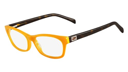 FENDI Eyeglasses 1032 249 Saffron/Honey - Fendi Eyeglasses Havana