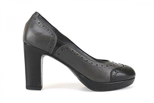 CALPIERRE 35 EU Zapatos de Salón Negro Gris Cuero AJ385
