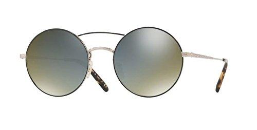 Oliver Peoples - Nickol 1214S 53 5271Y5 - Sunglasses (BRUSHED GOLD/BLACK, grey goldtone) (Oliver Peoples Vintage Sunglasses)