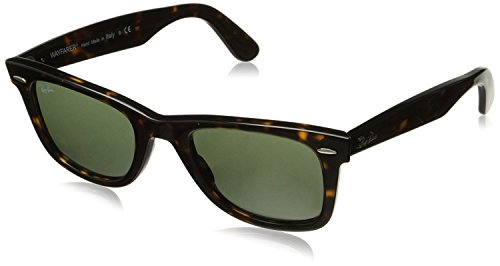 Ray-Ban RB2140 Original Wayfarer Sunglasses, Tortoise/ Green Classic, 50 mm (Ray-ban Rb2140 50 Original Wayfarer)