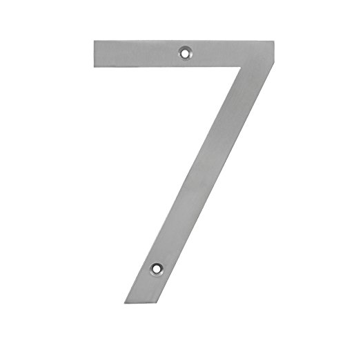 Choose House Number Finish - MAYKKE Hugo Stainless Steel House Number 7 | 2 Finishes to Choose from | Stainless Steel OYA1100702