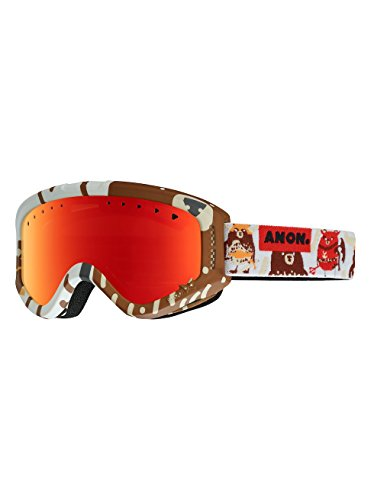 Anon Lunettes Tracker Snowboard enfant Dabearz/Red Amber