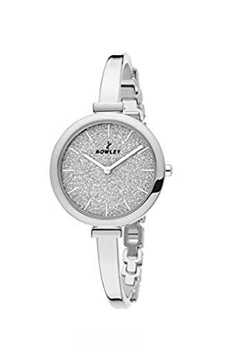 Reloj NOWLEY 8-5773-0-1 - Reloj mujer WR 3 atm con caja y brazalete de metal plateado.: Amazon.es: Relojes