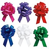 Holiday Gift Wrapping - 5'' Festive Pull Bows - Set of 12