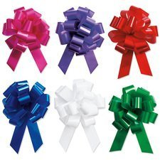 Holiday Gift Wrapping - 5'' Festive Pull Bows - Set of 12 by Bows & Ribbons