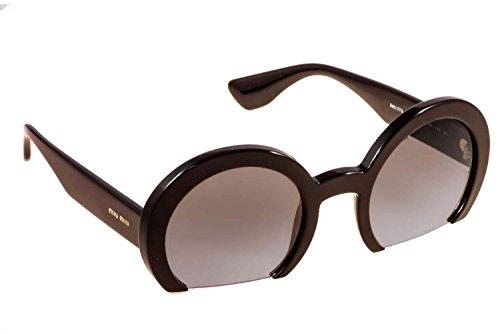 Miu Miu Womens Sunglasses (MU 07QS) Black/Grey Acetate - Non-Polarized - - Miu Miu Spectacles