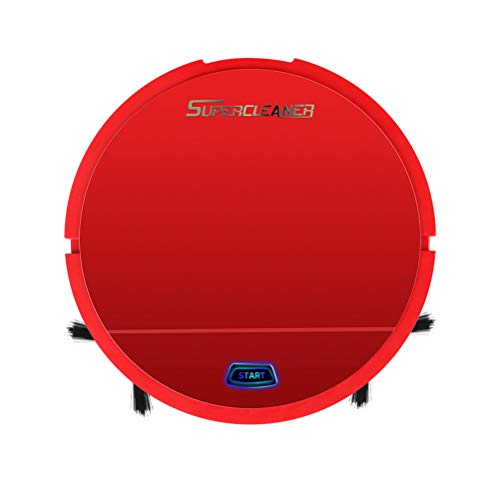 Smart Robot Vacuum Sweeper Cleaner, Smart Household Cleaner Machine Mini Automatic Sweeping Robotic Vacuums Cleaners, Bot Built-in Rechargeable Battery, for Hard Floor and Hardwood Floors (red)