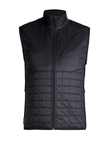 (Icebreaker Merino Men's MerinoLOFT Helix Vest , Black/Jet Hthr, Medium)