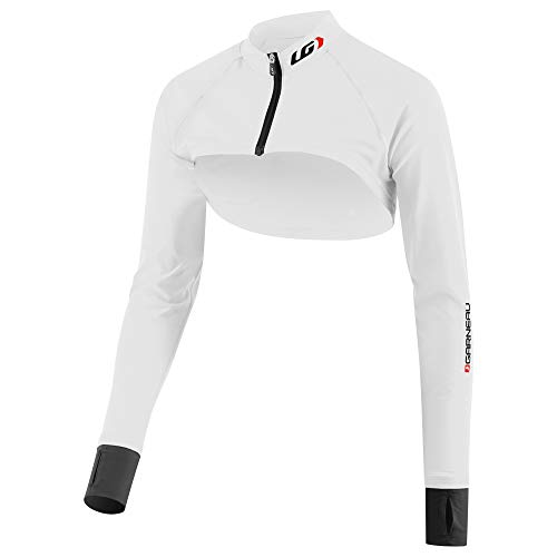 (Louis Garneau Women's Cycling Bolero with UPF SPF 50 Protection, White/Black, Medium)