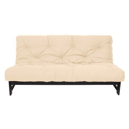 Mozaic Full Size 10-inch Cotton Twill Futon Mattress, Ivory (Cotton Futon Twill)
