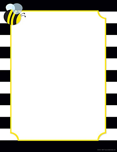 New! Wide Stripes with Bee Paper