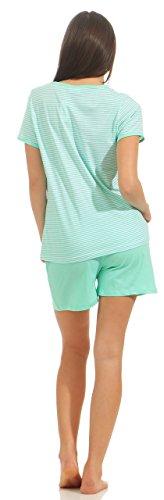 Good Deal Market Kurzer Damen-Pyjama sommerlicher Schlafanzug in verschiedenen Modellen h5OzDkab