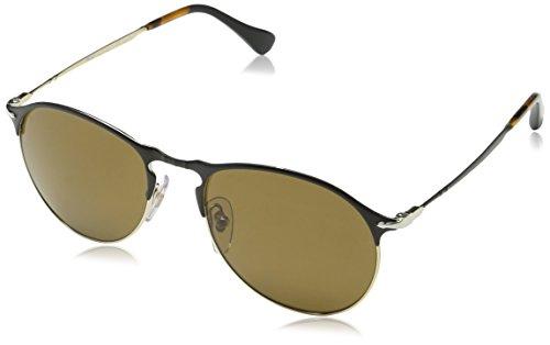 Persol Mens Sunglasses Black/Brown Metal - Polarized - - Persol Polarized Aviator