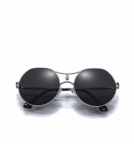 sol XIAOGEGE negro de de Negro Las gafas para transparente Mr retro sol gafas gafas redondas de Ngan chica color rqTrEgtUw