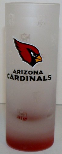 NFL Officially Licensed Arizona Cardinals 2-ounce Frosted Shot Glasses