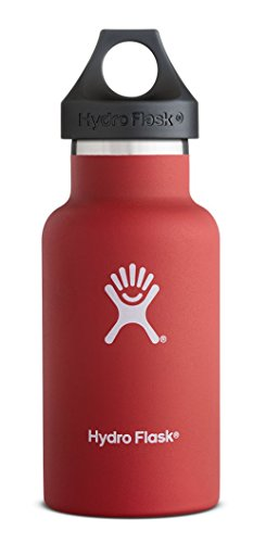 Beverage Flask (Hydro Flask 12 oz Vacuum Insulated Stainless Steel Water Bottle, Standard Mouth w/Loop Cap,)