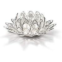 Portavelas de cristal de flor de loto boda