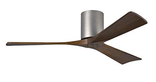 Atlas-CASA-Bruno-Irene-Hugger-DC-Deckenventilator--132-cm-Nickel-Gebrstet-3-walnussfarbene-Flgel-aus-Holz