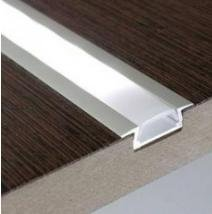 Alu Leiste Möbeleinbau Profil für LED Streifen 1m: Amazon.de ...