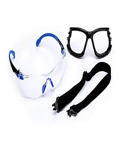 3M 50051131271895 Solus 1000 Safety Glass Kit, Black/Blue Frame, Standard, Clear