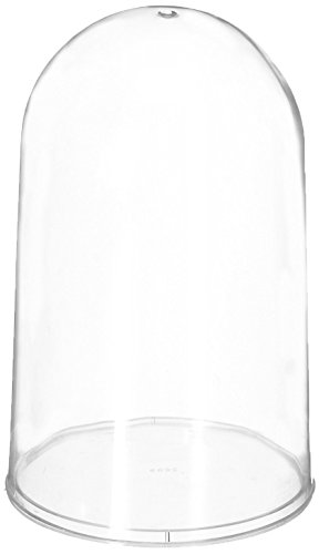 Homeford 7.5-Inch Plastic Dome Display Case with Clear Base, Large (Clear Plastic Dome)
