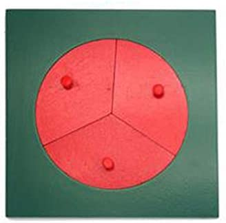 cdhgsh Houten Fractie Cirkels 1-10 Tellen Breuken Educatief Houten Speelgoed Educatief Houten Speelgoed